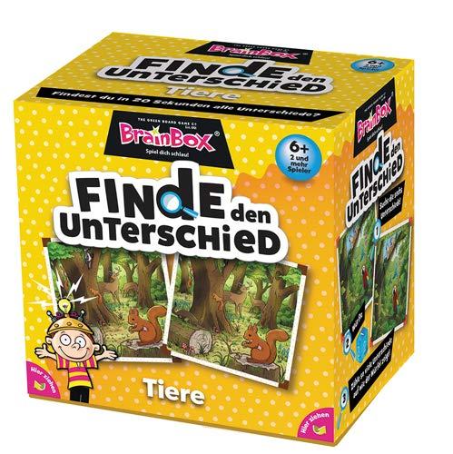 BRAIN BOX 94917 Finde den Unterschied, Tiere, Lernspiel, Suchspiel für Kinder ab 6 Jahren, Mehrfarbig