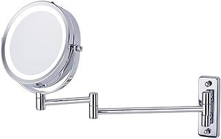 ZYLE 5X مكبرة مضيئة مرآة، مرآة مرآة الحمام مرآة، الحائط