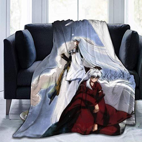 shenguang Inuyasha - Manta de Forro Polar para sofá, Manta cálida y acogedora para niños y Adultos