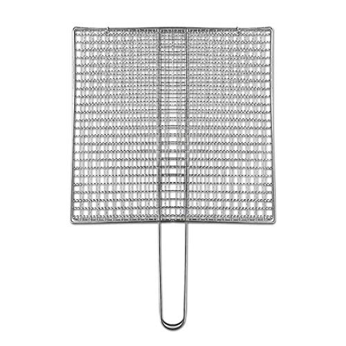 LONGXIN Barbecue Net Clips Grill Fisch Clips Gemüse Clips Grill Clips Kartoffel Barbecue Nets Tofu Barbecue Nets 烧烤夹(薄) 26 * 28厘米
