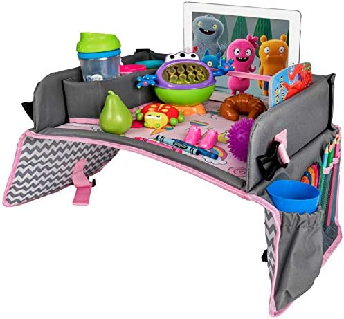 Kids Travel Tray Car Seat Tray Travel Lap Desk Accessory for Your Child s Rides and Flights product image