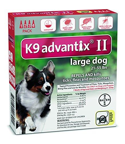 Advantix K9 Flea Killer Plus, Red,21-55 lbs. 4 Month Supply