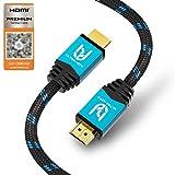 Ultra HDTV Premium 4K Câble HDMI 3 mètres - 4K en 60Hz (Pas de coupures), HDR, 3D, Arc I TV, Blu-Ray Player, PS4, Xbox