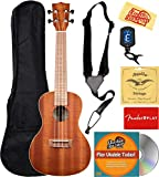 Kala KA-C Mahogany Concert Ukulele Bundle with Gig Bag, Tuner, Austin Bazaar Instructional DVD, and Polishing Cloth