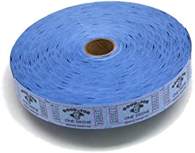 Blue Good For One Drink Ticket Roll : roll of 2000