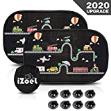 iZoeL Car Sun Shade for Baby Kids 2 Pack Static Cling Side Window