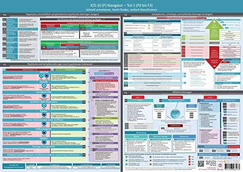 ICD-10 (F) Navigator Wandposter - Teil 1 (F0 bis F3) (2020) - Ideal zur Prüfungsvorbereitung für Heilpraktiker Psychotherapie (PSY): - Schnell ... (Neue, komplett überarbeitete Ausgabe)