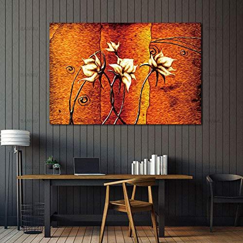 tzxdbh Afbeelding Canvas Schilderij Bloem Schilderij Ontwerp Home Decor Print Muur Art Modulaire Afbeelding op Canvas voor Woonkamer Muur Geen Frame No frame 60cmx90cm