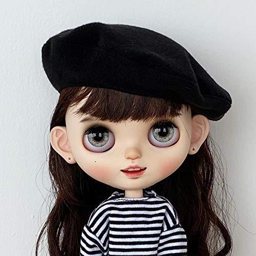 leoglint Blythe Doll Clothes, Hat Clothing for Blythe Doll 30 cm 1/6 Bjd Dolls Azone ICY Licca Doll (Black)