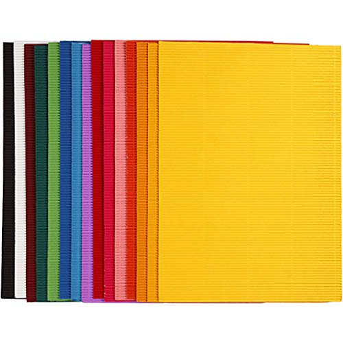 Cartón ondulado, arco 25 x 35 cm, 80 cm, 15 hojas