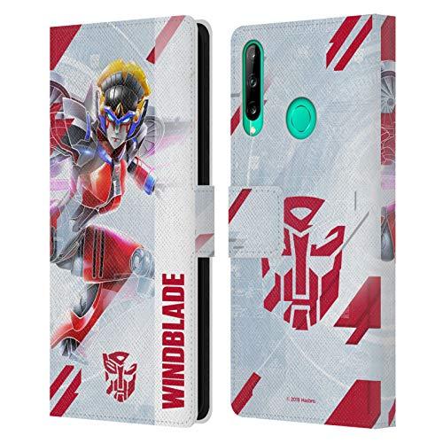 Head Case Designs Oficial Transformers Cuchilla de Viento Arte Clave de Autobots Carcasa de Cuero Tipo Libro Compatible con Huawei P40 Lite E