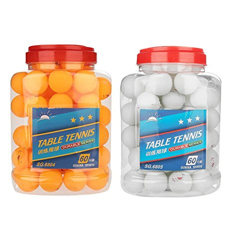 Best Price 60 Pcs 3-Star 40mm Table Tennis Balls Durable Practice Ping Pong Balls for Competition Tr...