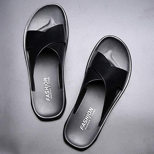 N-B Nuevas Zapatillas cómodas, Transpirables e Informales, Zapatos de Playa de Cuero Antideslizantes, Sandalias de Moda para Exteriores Resistentes al Desgaste para Todos los Partidos