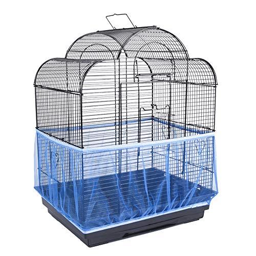 Huiben - Gabbia per uccelli e semi, protezione per pappagalli, in rete di nylon con rete elastica, per gonna, trappole per gabbia, cestino morbido e arioso