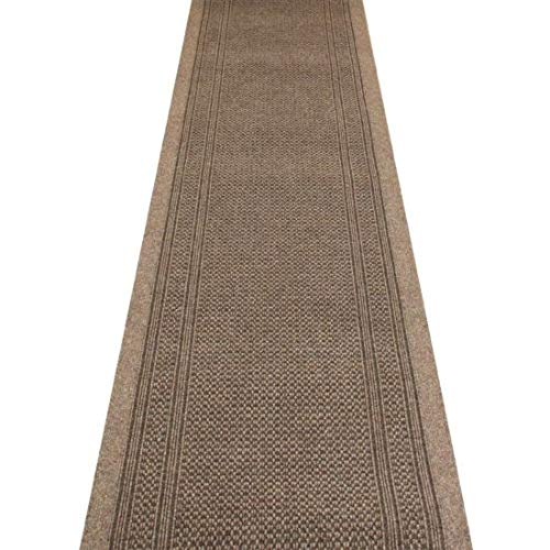 WDC ONLINE eXtreme® Aztec Light Brown - Long Hall & Stair Carpet Runner - 66cm wide choose your own size in 1ft(foot) lengths