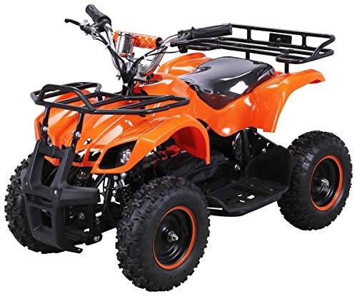 Elektro Kinder Miniquad TORINO 800 Watt ATV Pocket Quad Kinderquad Kinderfahrzeug (Orange)