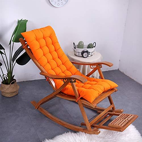 Ommda Hochlehner Sitzauflagen Memory Baumwolle für Gartenmöbel Hochlehner Polsterauflage Hochlehner Auflagen Orange 50x120cm