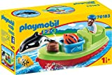 PLAYMOBIL 1.2.3 Pescador con bote, color carbón (70183) , color/modelo surtido