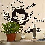 Zegeey Küche Lichtschalter Aufkleber niedlichen Koch Vinyl Wandaufkleber Aufkleber Home Decor
