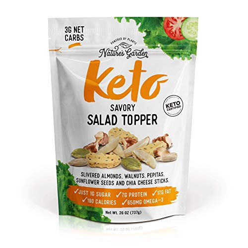Nature's Garden Keto Salad Topper - All Natural - Delicious & Fresh Flavor, Friendly Food, Allergy Free - Supports Immune and Digestive Health - Savory 26 Oz