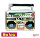 TK Gruppe Timo Klingler Aufblasbarer Retro Ghettoblaster Hip Hop Radio Walkman 80er 90er Party...