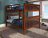 Donco Kids Mission Bunk Bed Light Espresso/Full/Full/Bed ONLY