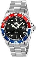Invicta Men's Pro Diver 43mm Stainless Steel Quartz Watch, Silver (Model: 23384)