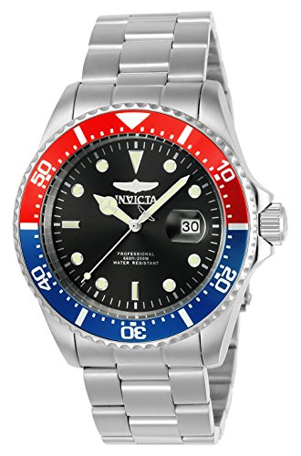 Invicta Pro Diver - Reloj de cuarzo de acero inoxidable de 1.693in, color plateado y verde (modelo: 23384, 25714)