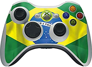 Countries of The World Xbox 360 Wireless Controller Skin - Brazil Flag Vinyl Decal Skin for Your Xbox 360 Wireless Controller