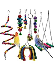 DAYONG Parrot's Colorful Hanging Perched Toy Small Parrot 7 / set