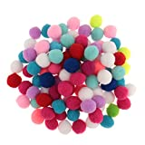 Homyl Bolas de artesanato pequenas e fofas coloridas sortidas para decoração de festas de casamento