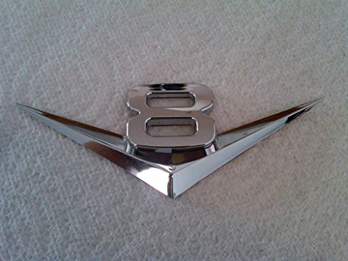 TRUE LINE Automotive V6 / V8 Chrome Emblem Badge Trim (V8)