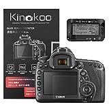 kinokoo Película de Vidrio Templado para Canon EOS 5D Mark IV Crystal Clear Film Protector de Pantalla Canon EOS 5D4 con Protector de Pantalla Superior (Paquete de 2)