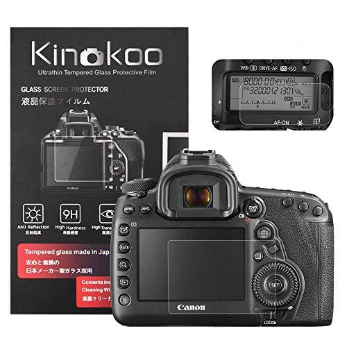 kinokoo Pellicola in vetro temperato per Canon EOS 5D Mark IV Clear Screen Pellicola per Canon 5D4 con protezione dello schermo superiore (2 pezzi)