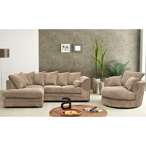 Magnificent Dylan Dilo Portabello Brown Coffee Jumbo Cord Sofa 2 3 Pabps2019 Chair Design Images Pabps2019Com