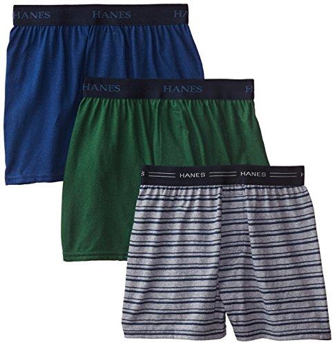 Hanes Jungen Boxershorts Ultimate Comfort Flex Solid Knit 3er-Pack - Mehrfarbig - Klein