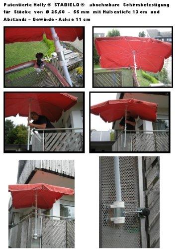 Parapluie de bâtons à 25,5 ø 47 mm-lot de 2–support à de 35 mm diamètre pour fixation à l'extérieur ou à l'intérieur 11 cm de distance de holly-parapluie breveté pour fixation rond ou angles éléments de 1 à 35 mm avec support pivotant 360° avec kratzfreien uNIVERSALGELENKHALTERUNG gUMMISCHUTZKAPPEN de fixation-support pivotant à 360° avec distance prises pour bâtons de parasol ø 25,5 à douille profonde 13 mm 50 cm 11 cm d long bec pivotant distance filetage axe-innovations lot de 2–en allemagne-holly ® produits sTABIELO-holly-sunshade ® sCHIRMEN à sur-ø 2,5 cm de 2 supports de fixation ou pour utiliser - 2 te des raisons de sécurité (kabelbinder)