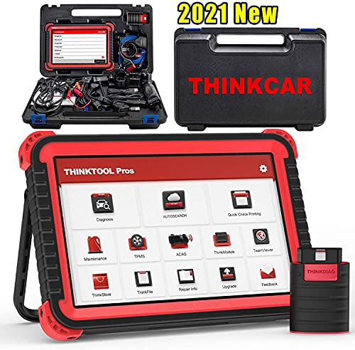 Thinkcar Thinktool Pros Bi-Directional Scanner Full Systems Diagnostic Scan Tool ,31+ Reset Functions, Key Matching, ECU Coding, AutoAuth for FCA SGW,ADAS Calibration (Need Tools),2 Years Update
