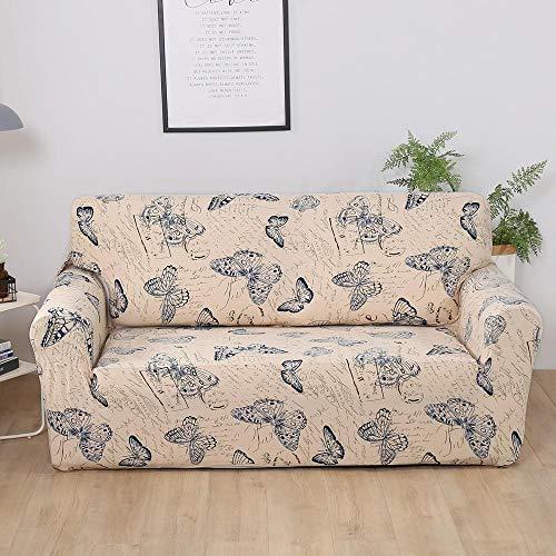 Funda de sofá elástica de algodón Funda de sofá Todo Incluido para Sala de Estar Funda elástica en Forma de L Sofá de Esquina A15 2 plazas