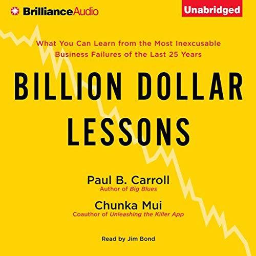 Billion Dollar Lessons audiobook cover art