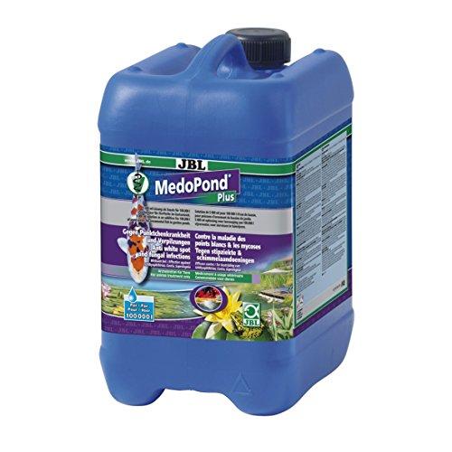 JBL MedoPond Plus 27147 Heilmittel gegen Pünktchenkrankheit und Verpilzung bei Teichfischen, 5 l