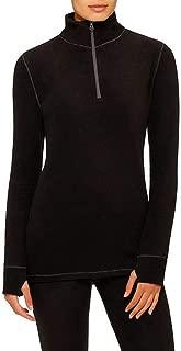Cuddl Duds ClimateRight Stretch Fleece Long Sleeve Mock Neck Half Zip Sleepwear Top