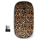 2.4G Ergonomic Portable USB Wireless Mouse for PC, Laptop, Computer, Notebook with Nano Receiver ( Leopard Animal Print )