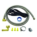 EZ-Flo 48337 Stainless Steel Braided Dishwasher Installation Kit, 3/8 inch Comp, 6 Ft