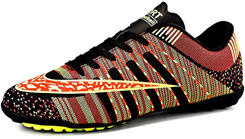 JiYe Men Soccer Shoes for Women Turf Shoe Indoor Cross Training by, Black,39 EU=6.5US-Men/8US-Women