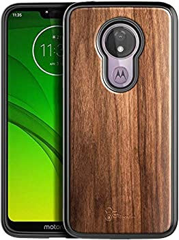 E-Began Case for Moto G6 / Motorola Moto G  6th Generation  Real Natural Walnut Wood Ultra Slim Protective Bumper Shockproof Phone Case  Every Piece is Unique  -Wood