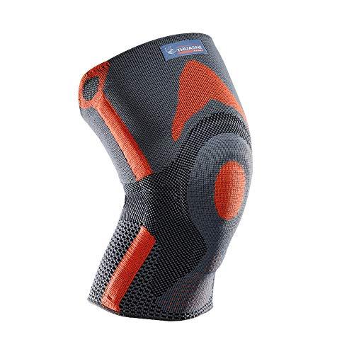 Rodillera rotuliana reforzada Thuasne Sport - Gris/Naranja - Talla XL