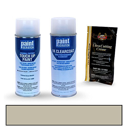PAINTSCRATCH Touch Up Paint Spray Can Car Scratch Repair Kit - Compatible with 2011 BMW X5 Platinum Bronze Metallic (Color Code: A53)