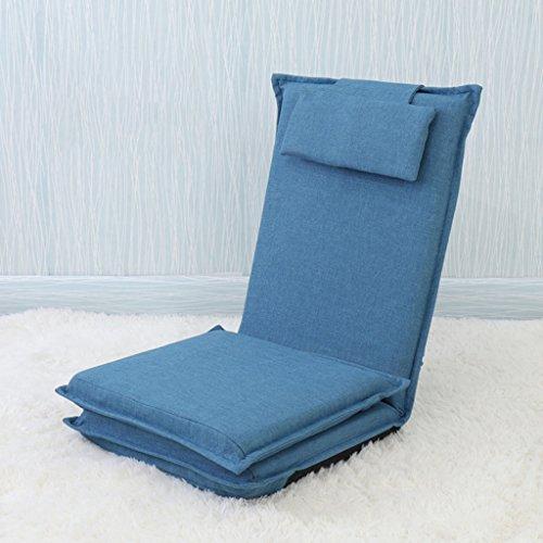 Lazy Sofa Fold Chair Chambre à coucher Living Room Fauteuil de loisirs -LI JING SHOP (Couleur : Bleu marin)