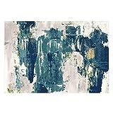 WGIRL Alfombra Rectangular Moderna Alfombra - Colección Celestial Textura Textura Abstracta Moderna Alfombra Rectangular de Varias áreas de Acuarela Alfombra Antideslizante,B,1.4×2.0m